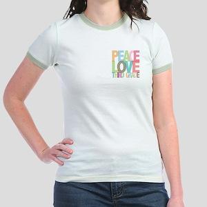 Peace Love Third Grade Jr. Ringer T-Shirt