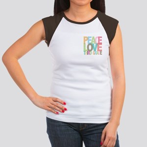 Peace Love Third Grade Women's Cap Sleeve T-Shirt