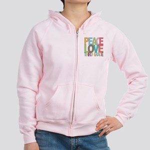 Peace Love Third Grade Women's Zip Hoodie