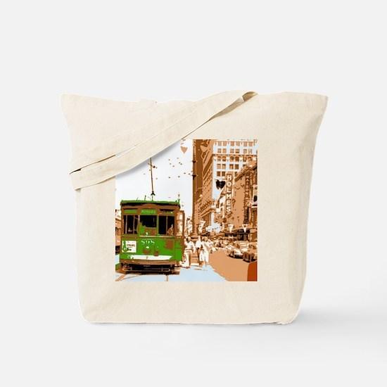 New Orleans Streetcar Named D Tote Bag