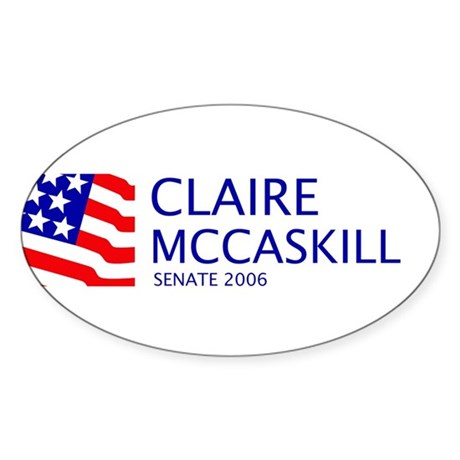 McCaskill 06 Oval Sticker