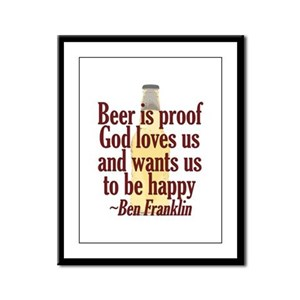 Beer is Proof Framed Panel Print