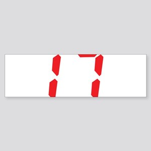 17 seventeen red alarm clock Bumper Sticker