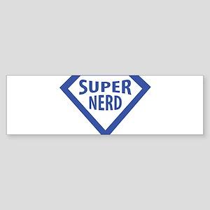 super nerd icon Bumper Sticker