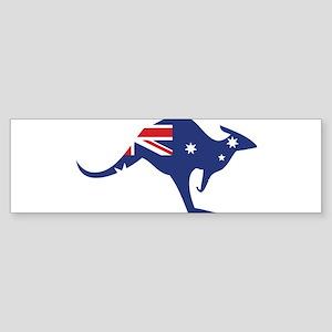 australian flag kangaroo Bumper Sticker