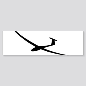 black glider logo sailplane Bumper Sticker