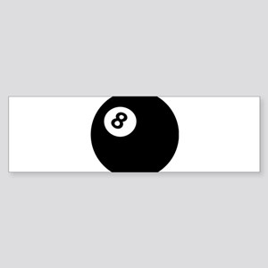 black billiard ball Bumper Sticker