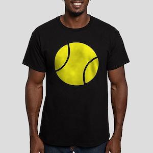 tennis ball Men's Fitted T-Shirt (dark)