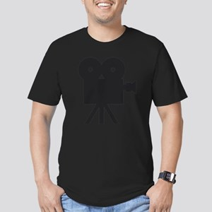 black cine camera hollywood Men's Fitted T-Shirt (