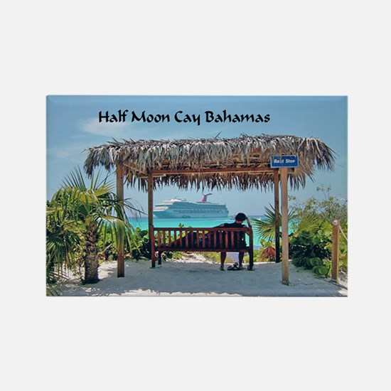 Half Moon Cay Rectangle Magnet