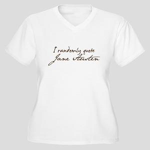 I Randomly Quote Jane Austen Women's Plus Size V-N