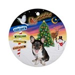 XmasSigns/Corgi Pup (Z) Ornament (Round)