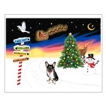 XmasSigns/Corgi Pup (Z) Small Poster
