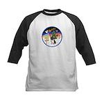 XmasSigns/Corgi Pup (Z) Kids Baseball Jersey