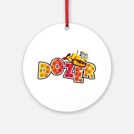 Dozer Ornament (Round)