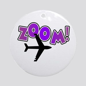 Zoom Airplane Ornament (Round)
