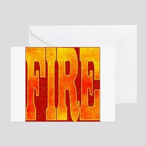 Chinese Fire Greeting Card