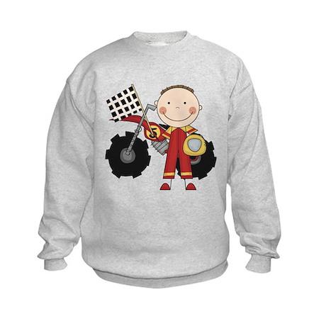 Motocross Racing Red Kids Sweatshirt
