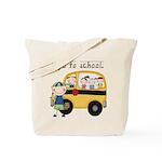 Boy I Go To School Tote Bag