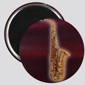Saxaphone on Red Magnet