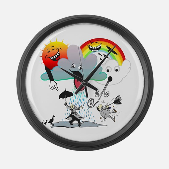 Very Bad Weather! Large Wall Clock