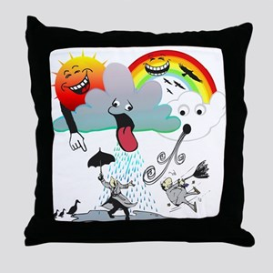 Very Bad Weather! Throw Pillow