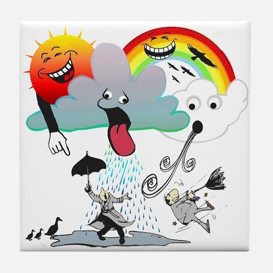 Very Bad Weather! Tile Coaster