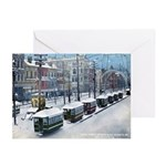 Snow On Canal St. 1885 Christmas Cards ( 6)