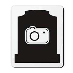Headstone Photographer Mousepad