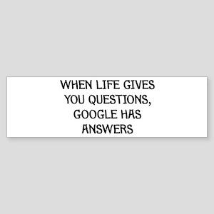 """Google Has Answers"" Bumper Sticker"