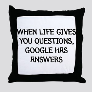 """Google Has Answers"" Throw Pillow"