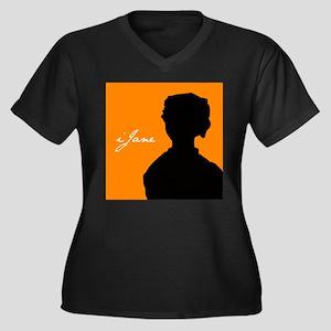 iJane Women's Plus Size V-Neck Dark T-Shirt