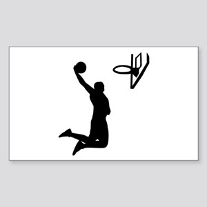 Basketball Rectangle Sticker