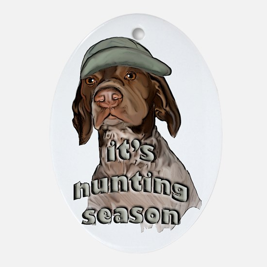 german shorthaired hunting se Ornament (Oval)