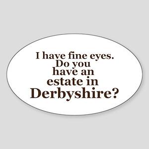 Fine Eyes Oval Sticker