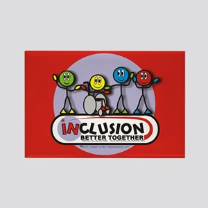 Inclusion Better Together Rectangle Magnet