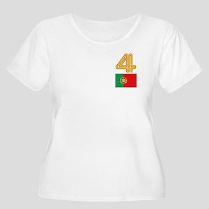 Team Portugal - #4 Women's Plus Size Scoop Neck T-