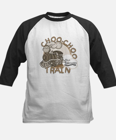 Choo Choo Train Kids Baseball Jersey