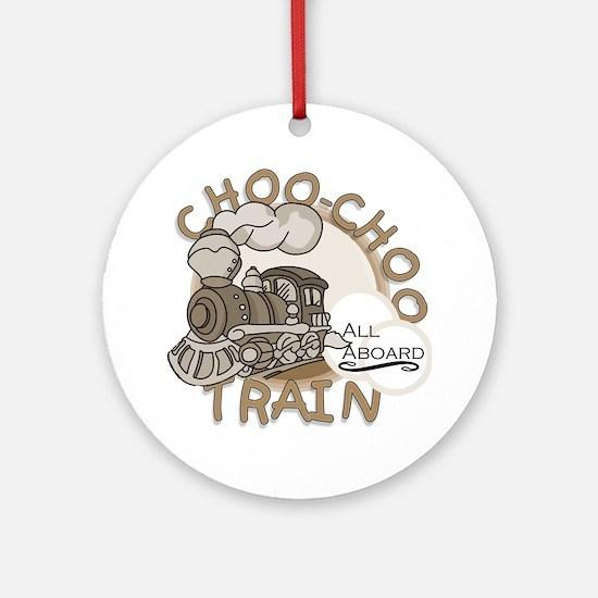 Choo Choo Train Ornament (Round)