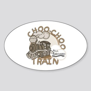 Choo Choo Train Oval Sticker