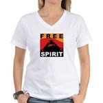 Free Spirit Women's V-Neck T-Shirt