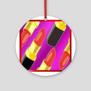 Lipstick helps Ornament (Round)
