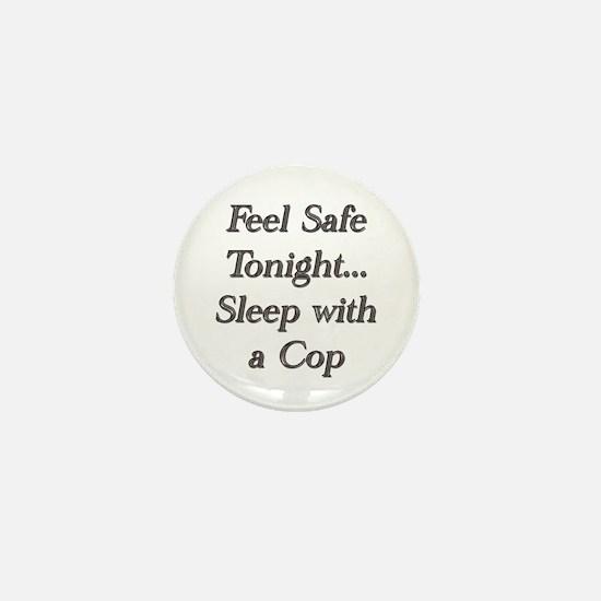 Cute Sleep with a cop Mini Button
