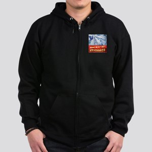 Blessed NOT Stressed Zip Hoodie (dark)