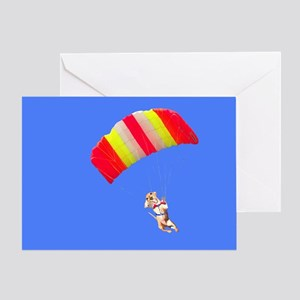 Red Parachute Greeting Card