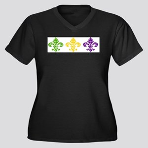 Mardi Fleur Swirl Plus Size T-Shirt