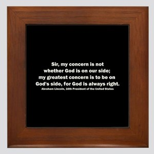 Abraham Lincoln Quote Framed Tile