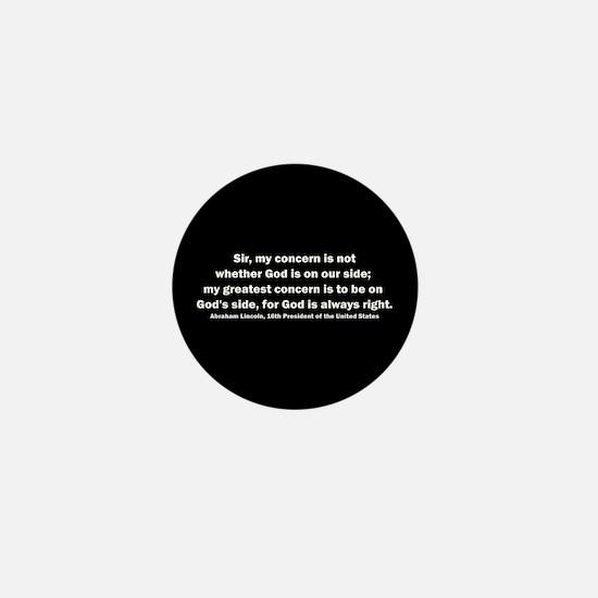 Abraham Lincoln Quote Mini Button