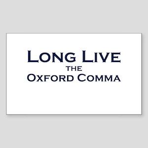 Oxford Comma Rectangle Sticker