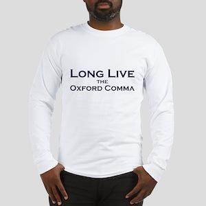 Oxford Comma Long Sleeve T-Shirt